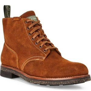 Polo Ralph Lauren RL Army Tan Roughout Suede Boots